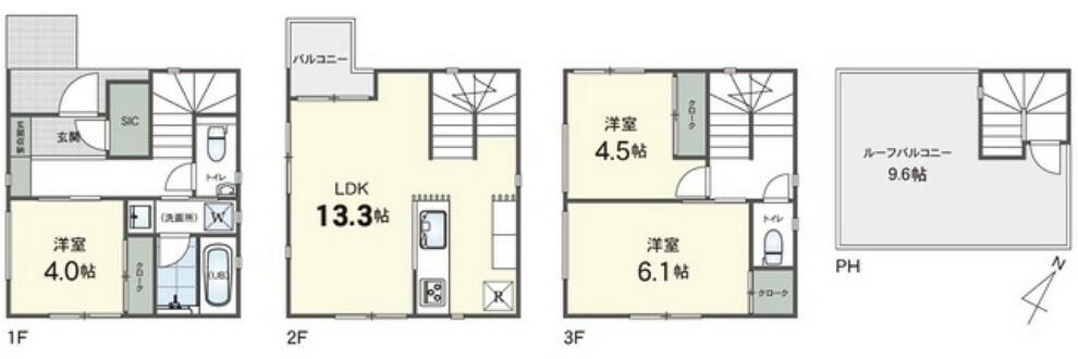 間取り図 B号棟 間取図 ※駐車スペースは車種限定となります。