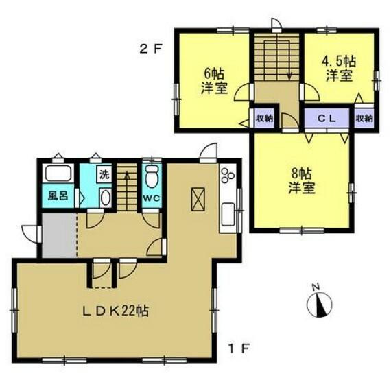 間取り図 【リフォーム後間取り図(予定)】5DKの間取りをこれから3LDKに間取り変更します。洋室に変更する工事により若い方でも住みやすいお家に仕上げていきます。