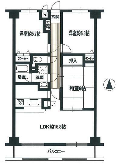 間取り図 2階部分・3LDK