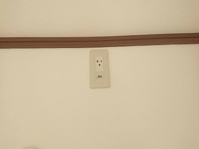 【同仕様写真】全居室にエアコンのコンセントを設置致します。入居後にコンセント設置の手間が省けます。