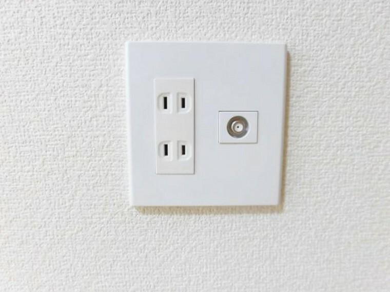 全ての部屋にTVコンセントを設置しました。どのお部屋でもTVを見ることができるので部屋割りも安心して行えますね。