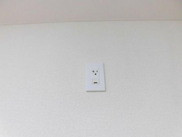 各居室にはエアコン用のコンセントを設置しました。エアコン工事の際にコンセントを増設することなく、設置頂けます。