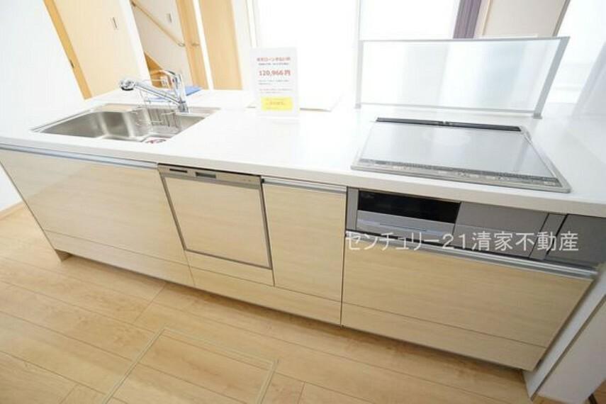 キッチン 忙しい奥様に嬉しい食洗機完備!(2021年04月撮影)
