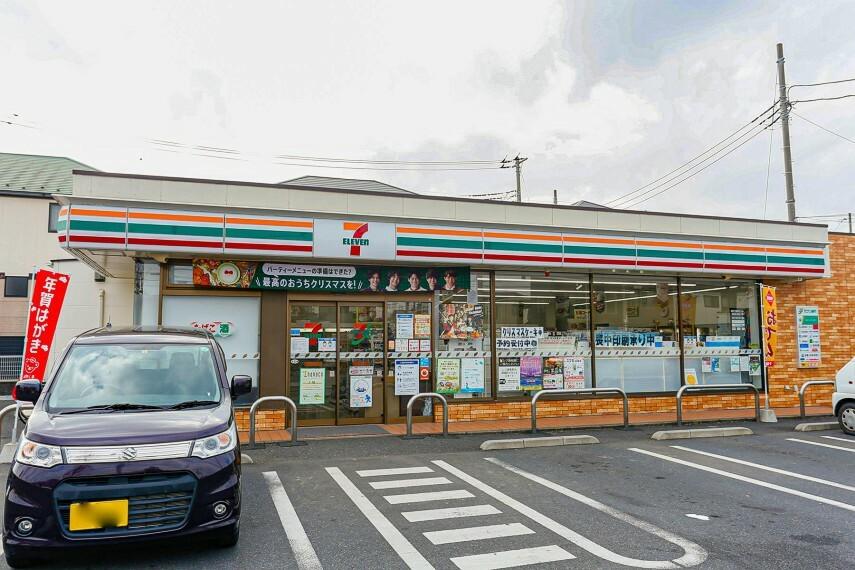 コンビニ セブンイレブン草加新栄店
