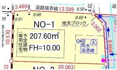 土地図面 区画番号1