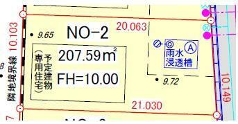 土地図面 区画番号2