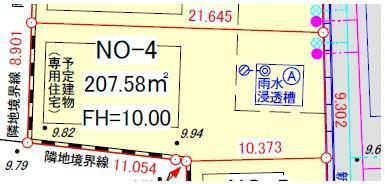 土地図面 区画番号4