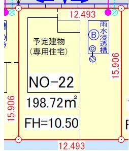 土地図面 区画番号22