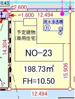 土地図面 区画番号23