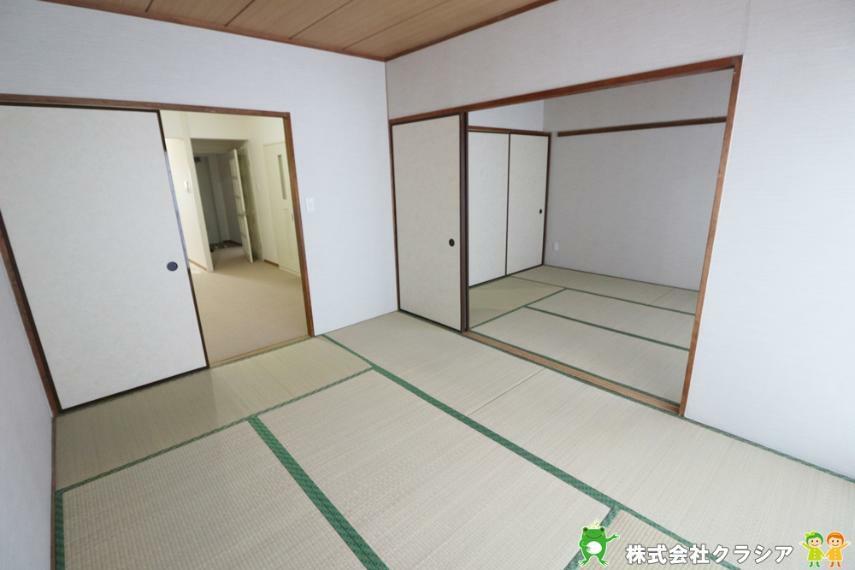 和室 6帖の和室です。畳は部屋の湿度を自然に調整して快適な空間にしてくれますよ(2020年12月撮影)