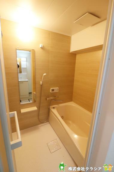 浴室 一日の疲れを癒すバスルーム。アロマオイルや半身浴が楽しめる快適な空間です(2020年12月撮影)