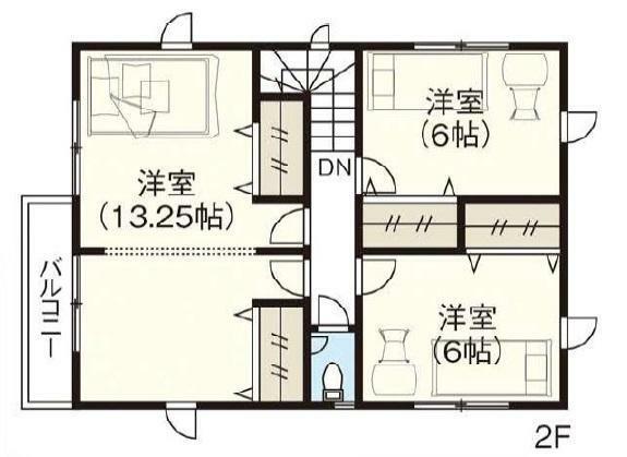 間取り図 2階間取図