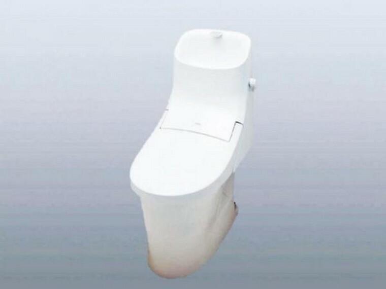 トイレ 【同仕様写真】トイレは温水洗浄機能付きに新品交換します。表面は凹凸がないため汚れが付きにくく、継ぎ目のない形状でお手入れが簡単です。節水機能付きなのでお財布にも優しいですね。