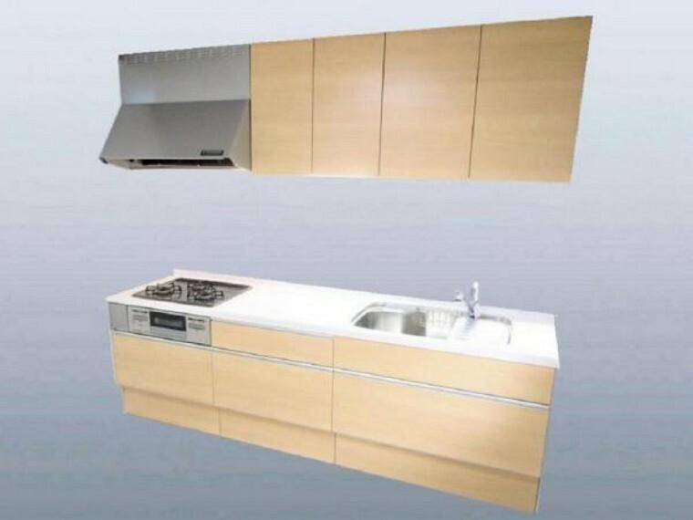 キッチン 【同仕様写真】キッチンは新品に交換します。天板は人工大理石製なので、熱に強く傷つきにくいため毎日のお手入れが簡単です。