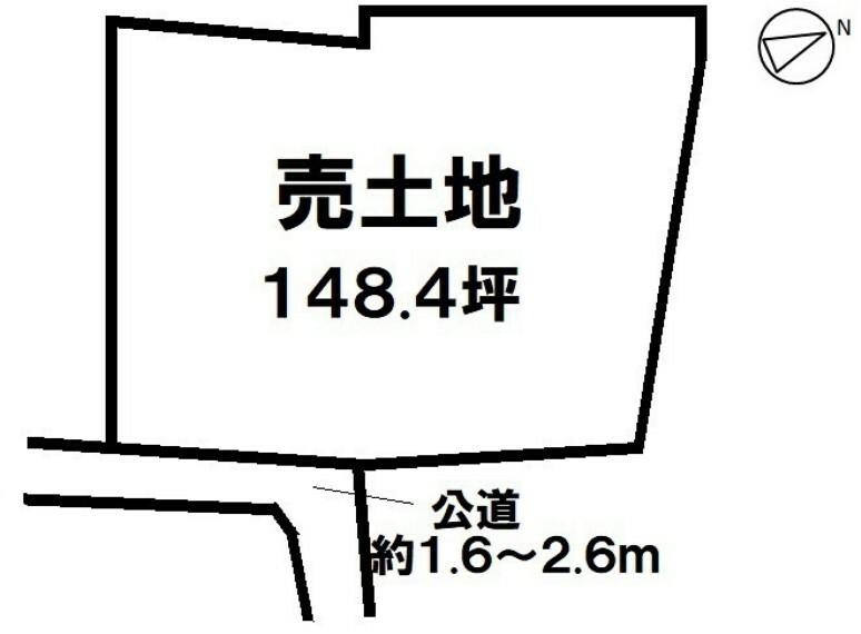 土地図面 生活施設や文教施設が整ったエリア ゆとりの148.4坪売土地 詳細はお問合せください