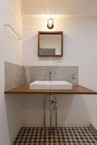 洗面化粧台 すっきりデザインの洗面台