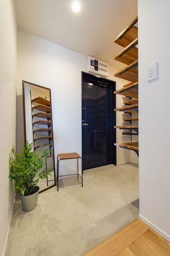玄関 拡張した玄関スペース