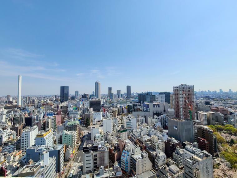 眺望 東京北西部の市街地が展望に広がります。リビングや洋室、主寝室からも眺望ができる高層階です。
