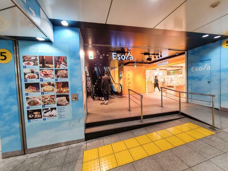 ショッピングセンター 東武エソラや東武百貨店やルミネの大型ショッピングモールが徒歩圏で利用。日々の生活の楽しみが膨らむエリアです。