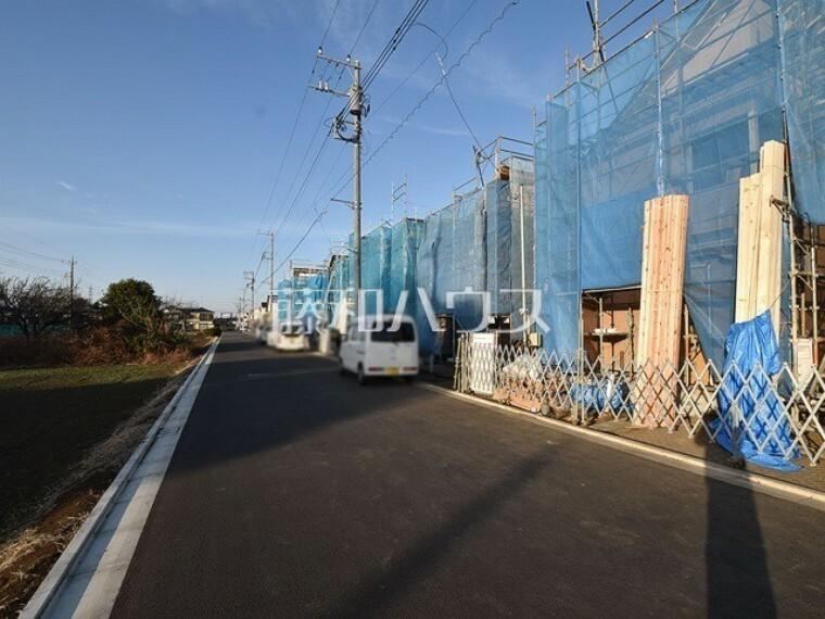 現況写真 接道状況および現場風景 【小平市小川町1丁目】