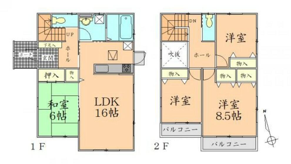 間取り図 間取り 全居室2面採光で明るく開放的な間取りの新築戸建。