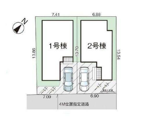 区画図:2号棟