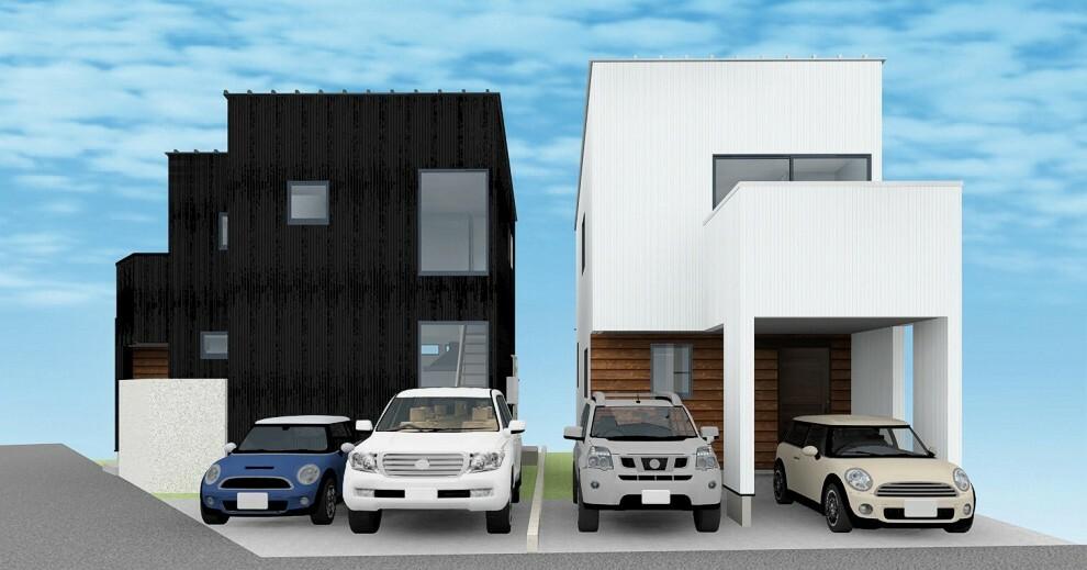 現況外観写真 【1号棟】浦添市城間1丁目に新築戸建!2021年8月完成予定!LDK広々18帖・3LDK・車2台可!