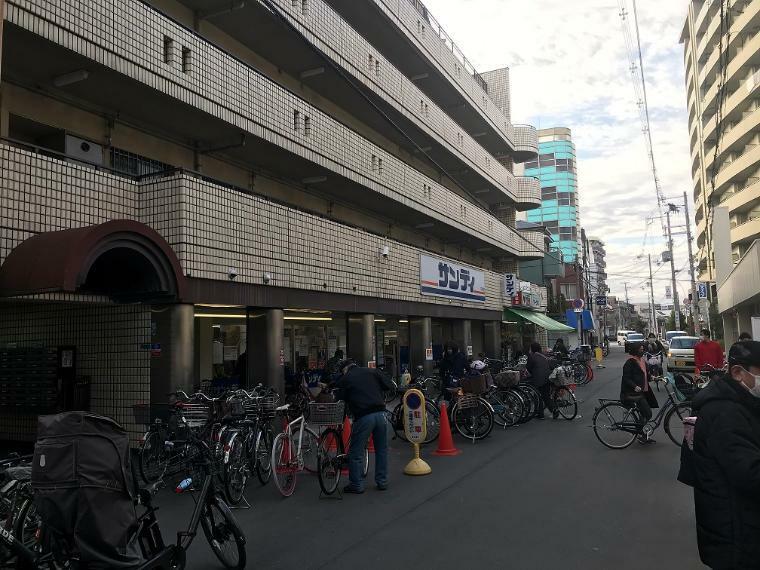 スーパー サンディ十三店! 近くにスーパー有! 自転車で3分の距離です!