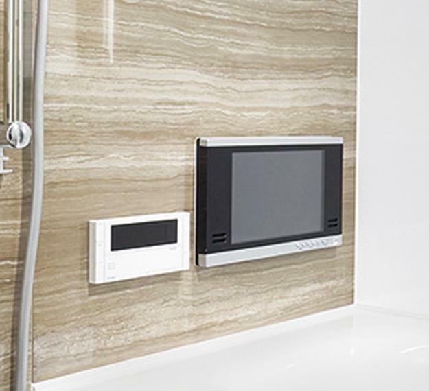 バスタイムをより快適にする「浴室テレビ」。浴槽に浸かりながら楽しめる浴室テレビを標準装備。バスタイムをより快適にお過ごしいただけます。※imagephoto
