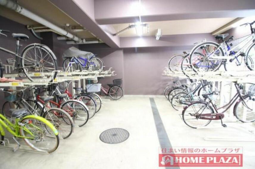 しっかり整理がされていて使いやすい駐輪場となっております。