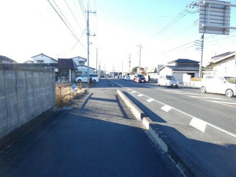 現況写真 歩道も整備されております。