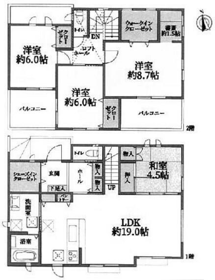 間取り図 神戸市北区星和台2丁目 新築戸建て