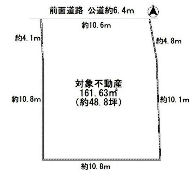 土地図面 神戸市北区広陵町3丁目 建築条件なし土地