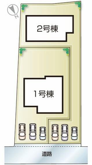 区画図 播磨町二子20-1期 全2邸 区画図