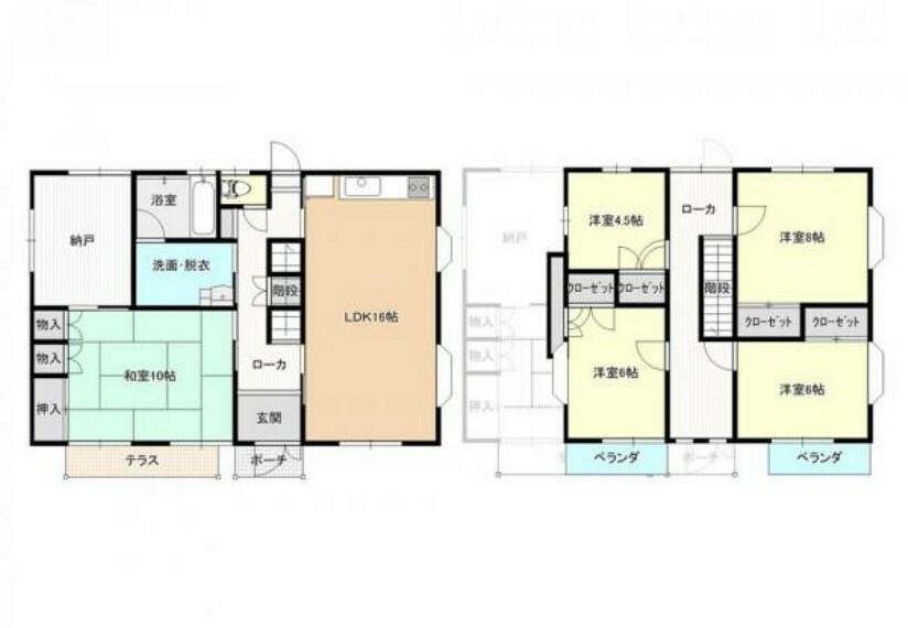 間取り図 【間取図】リフォーム後の間取り図です。部屋数が多いので2世帯住宅にもご活用できます。
