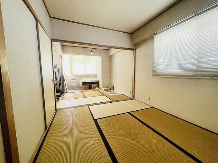 和室 二間続きの和室は開放感がありますね