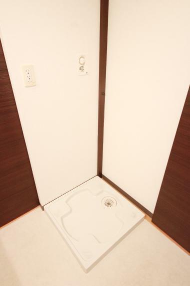 洗面化粧台 洗濯機置場は防水パン付きですので水漏れしてしまっても安心です!