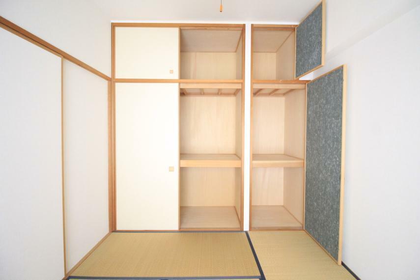 収納 和室押入れ お布団がしまえるスペースもあります!