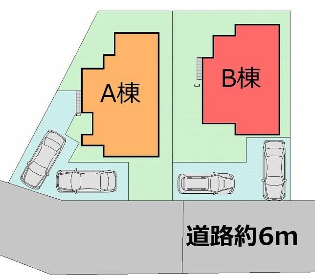区画図 お友達をたくさん呼べるゆとりの駐車スペース