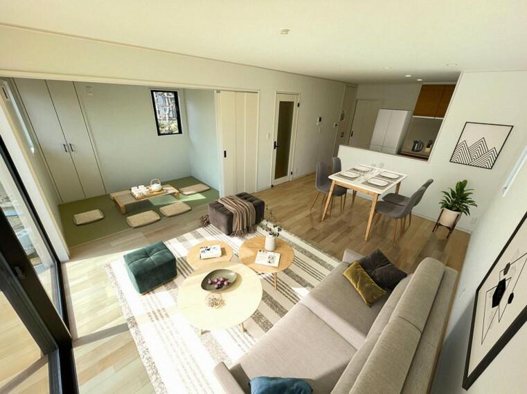 居間・リビング (リビング)抗菌・汚れに強い・フリーワックス・傷に強いフローリングを採用!/家具・インテリアはイメージです。