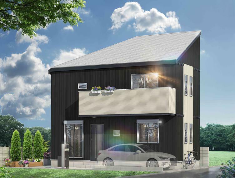 完成予想図(外観) 機能美を追求した設備とこだわりの意匠を搭載した都市型住宅が完成!