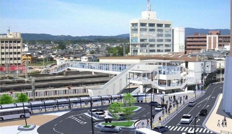 「大和西大寺」駅は2021年度末に大規模リニューアル予定。(完成イメージ)