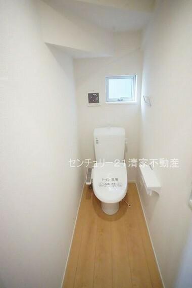 トイレ 2号棟:温水洗浄付きトイレを標準設置!(2021年07月撮影)