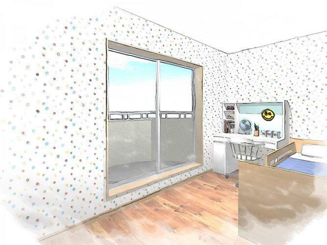 子供部屋 同間取りの子供部屋のイメージ図です