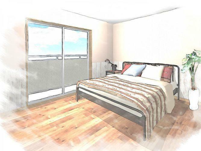 寝室 同間取りの寝室のイメージ図です