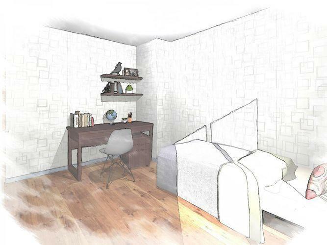 洋室 同間取りの居室のイメージ図です