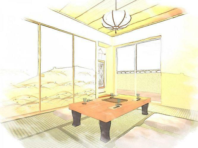 和室 同間取りの和室のイメージ図です
