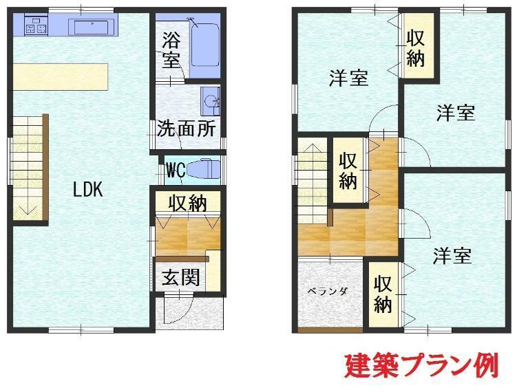 参考プラン間取り図 14号地建築参考プラン例
