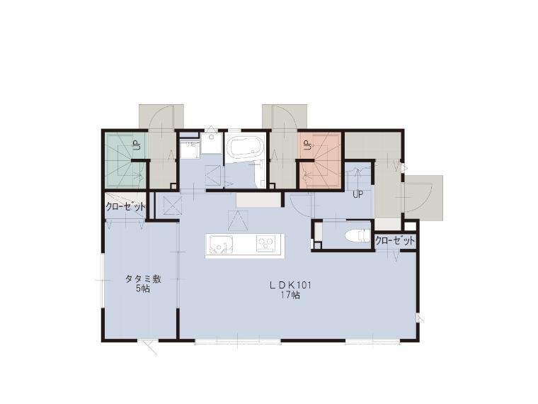 間取り図 1Fプラン(オーナー邸)