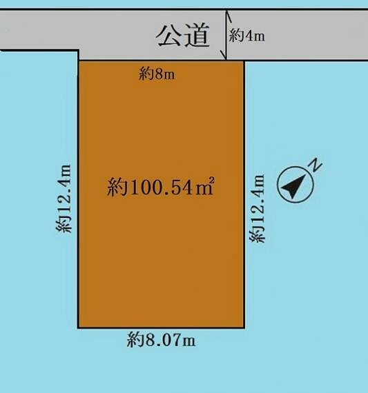 区画図 30坪の整形地